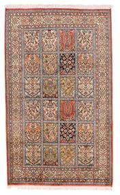Kashmir Puur Zijde Vloerkleed 93X155 Echt Oosters Handgeknoopt Beige/Donkerrood (Zijde, India)