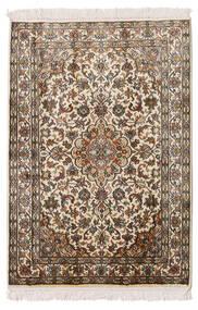 Kashmir Puur Zijde Vloerkleed 64X93 Echt Oosters Handgeknoopt Beige/Bruin (Zijde, India)