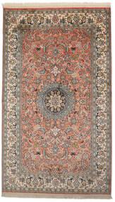 Kashmir Puur Zijde Vloerkleed 93X156 Echt Oosters Handgeknoopt Donkergrijs/Donkerrood (Zijde, India)