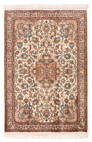 Kashmir Puur Zijde Vloerkleed 64X94 Echt Oosters Handgeknoopt Beige/Donkerbruin (Zijde, India)