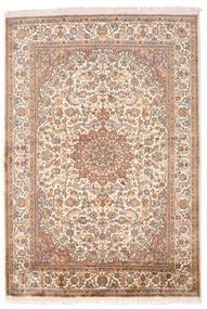 Kashmir Puur Zijde Vloerkleed 126X185 Echt Oosters Handgeknoopt Bruin/Lichtroze (Zijde, India)