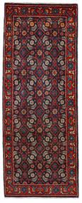 Mahal Vloerkleed 64X164 Echt Oosters Handgeknoopt Tapijtloper Donkerrood/Donkerblauw (Wol, Perzië/Iran)
