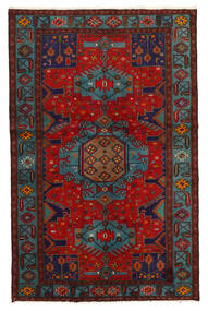 Koliai Vloerkleed 125X201 Echt Oosters Handgeknoopt Donkerrood/Donkerbruin (Wol, Perzië/Iran)