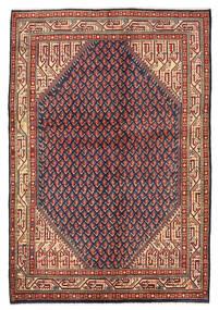 Sarough Mir Vloerkleed 139X203 Echt Oosters Handgeknoopt Donkerrood/Zwart (Wol, Perzië/Iran)