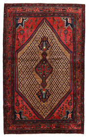 Koliai Vloerkleed 131X208 Echt Oosters Handgeknoopt Donkerrood/Donkerbruin (Wol, Perzië/Iran)