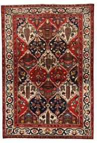 Bakhtiar Vloerkleed 139X205 Echt Oosters Handgeknoopt Donkerrood/Zwart (Wol, Perzië/Iran)