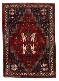 Shiraz Vloerkleed 124X175 Echt Oosters Handgeknoopt Donkerrood (Wol, Perzië/Iran)