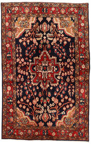 Mahal Vloerkleed 137X213 Echt Oosters Handgeknoopt Donkerrood/Donkerbruin (Wol, Perzië/Iran)