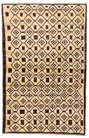 Moroccan Berber - Afghanistan Vloerkleed 110X173 Echt Modern Handgeknoopt Beige/Donkerbruin/Donkerbeige (Wol, Afghanistan)