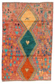 Moroccan Berber - Afghanistan Vloerkleed 114X175 Echt Modern Handgeknoopt Rood/Oranje (Wol, Afghanistan)
