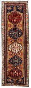 Ardebil Vloerkleed 103X324 Echt Oosters Handgeknoopt Tapijtloper Donkerbruin/Donkerrood (Wol, Perzië/Iran)