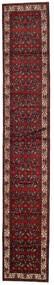 Hamadan Vloerkleed 90X521 Echt Oosters Handgeknoopt Tapijtloper Donkerrood/Donkerbruin (Wol, Perzië/Iran)