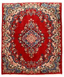Sarough Vloerkleed 76X90 Echt Oosters Handgeknoopt Roestkleur/Donkerpaars (Wol, Perzië/Iran)