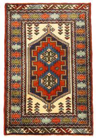 Turkaman Vloerkleed 61X93 Echt Oosters Handgeknoopt Zwart/Donkerbruin (Wol, Perzië/Iran)