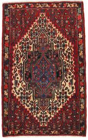 Senneh Vloerkleed 65X105 Echt Oosters Handgeknoopt Donkerrood/Zwart (Wol, Perzië/Iran)