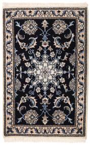 Nain Vloerkleed 59X91 Echt Oosters Handgeknoopt Zwart/Lichtgrijs (Wol, Perzië/Iran)