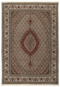 Tabriz 40 Raj Vloerkleed 170X242 Echt Oosters Handgeknoopt Donkerbruin/Bruin/Lichtgrijs (Wol/Zijde, Perzië/Iran)