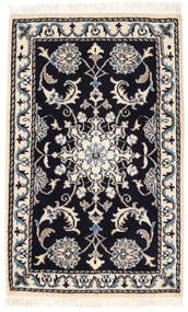 Nain Vloerkleed 57X92 Echt Oosters Handgeknoopt Beige/Zwart (Wol, Perzië/Iran)
