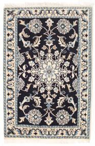 Nain Vloerkleed 58X88 Echt Oosters Handgeknoopt Beige/Lichtgrijs/Zwart (Wol, Perzië/Iran)