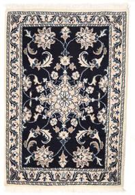 Nain Vloerkleed 56X83 Echt Oosters Handgeknoopt Lichtgrijs/Zwart/Beige (Wol, Perzië/Iran)