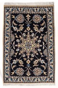 Nain Vloerkleed 57X88 Echt Oosters Handgeknoopt Zwart/Beige (Wol, Perzië/Iran)