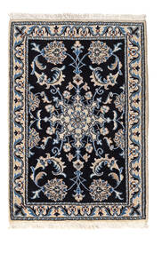 Nain Vloerkleed 59X86 Echt Oosters Handgeknoopt Zwart/Lichtgrijs (Wol, Perzië/Iran)