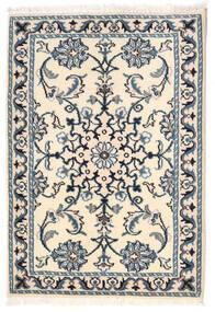 Nain Vloerkleed 61X88 Echt Oosters Handgeknoopt Beige/Blauw (Wol, Perzië/Iran)
