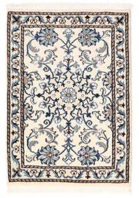 Nain Vloerkleed 59X84 Echt Oosters Handgeknoopt Beige/Zwart (Wol, Perzië/Iran)