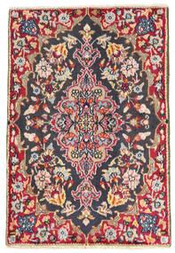 Kerman Vloerkleed 57X84 Echt Oosters Handgeknoopt Zwart (Wol, Perzië/Iran)