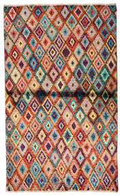 Moroccan Berber - Afghanistan Vloerkleed 85X142 Echt Modern Handgeknoopt Donkerbruin/Roestkleur (Wol, Afghanistan)