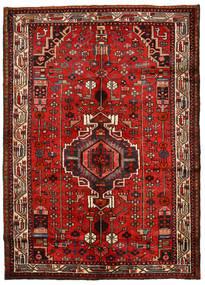 Hamadan Vloerkleed 148X208 Echt Oosters Handgeknoopt Roestkleur/Donkerrood (Wol, Perzië/Iran)