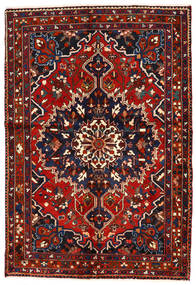 Bakhtiar Vloerkleed 142X208 Echt Oosters Handgeknoopt Donkerblauw/Donkerrood/Roestkleur (Wol, Perzië/Iran)