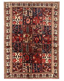 Bakhtiar Vloerkleed 140X196 Echt Oosters Handgeknoopt Donkerrood/Donkerbruin (Wol, Perzië/Iran)