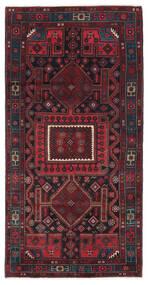 Kurdi Vloerkleed 132X265 Echt Oosters Handgeknoopt Donkerrood/Donkerblauw (Wol, Perzië/Iran)