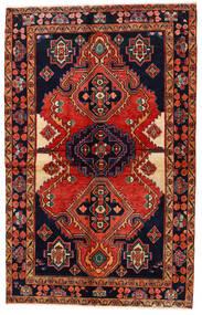Koliai Vloerkleed 140X223 Echt Oosters Handgeknoopt Zwart/Donkerrood (Wol, Perzië/Iran)