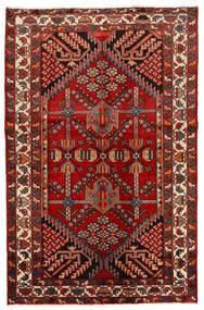 Rudbar Vloerkleed 130X200 Echt Oosters Handgeknoopt Donkerrood/Roestkleur (Wol, Perzië/Iran)