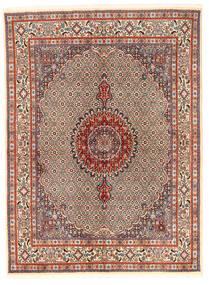 Moud Vloerkleed 167X226 Echt Oosters Handgeknoopt Lichtbruin/Donkerbruin (Wol/Zijde, Perzië/Iran)