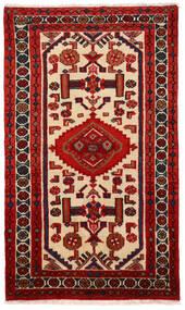 Rudbar Vloerkleed 69X117 Echt Oosters Handgeknoopt Donkerrood/Roestkleur (Wol, Perzië/Iran)