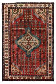 Hamadan Vloerkleed 76X115 Echt Oosters Handgeknoopt Donkerbruin/Zwart (Wol, Perzië/Iran)