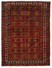 Hamadan Vloerkleed 80X108 Echt Oosters Handgeknoopt Donkerbruin/Donkerrood (Wol, Perzië/Iran)