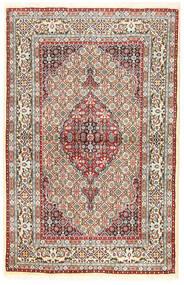 Moud Vloerkleed 96X194 Echt Oosters Handgeknoopt Bruin/Donkerbeige (Wol/Zijde, Perzië/Iran)