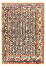 Moud Vloerkleed 97X138 Echt Oosters Handgeknoopt Donkerbeige/Donkergrijs (Wol/Zijde, Perzië/Iran)
