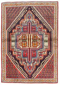 Koliai Vloerkleed 103X148 Echt Oosters Handgeknoopt Donkerrood/Donkerpaars (Wol, Perzië/Iran)
