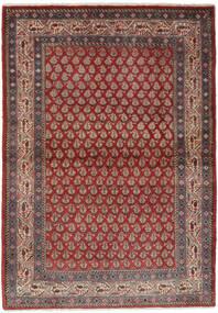 Sarough Mir Vloerkleed 106X158 Echt Oosters Handgeknoopt Donkerbruin/Zwart (Wol, Perzië/Iran)