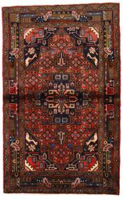 Koliai Vloerkleed 97X159 Echt Oosters Handgeknoopt Zwart/Donkerrood (Wol, Perzië/Iran)