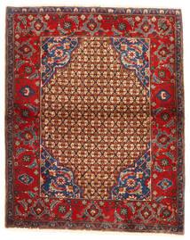 Koliai Vloerkleed 95X117 Echt Oosters Handgeknoopt Donkerrood/Donkerbruin (Wol, Perzië/Iran)