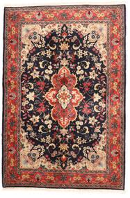 Yazd Vloerkleed 120X182 Echt Oosters Handgeknoopt Zwart/Donkerrood (Wol, Perzië/Iran)