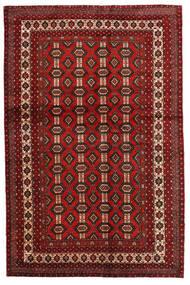 Mashad Vloerkleed 130X200 Echt Oosters Handgeknoopt Donkerrood/Donkerbruin (Wol, Perzië/Iran)