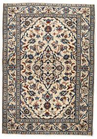 Keshan Vloerkleed 103X146 Echt Oosters Handgeknoopt Beige/Zwart/Lichtgrijs (Wol, Perzië/Iran)