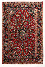 Keshan Vloerkleed 97X147 Echt Oosters Handgeknoopt Donkerrood/Beige (Wol, Perzië/Iran)